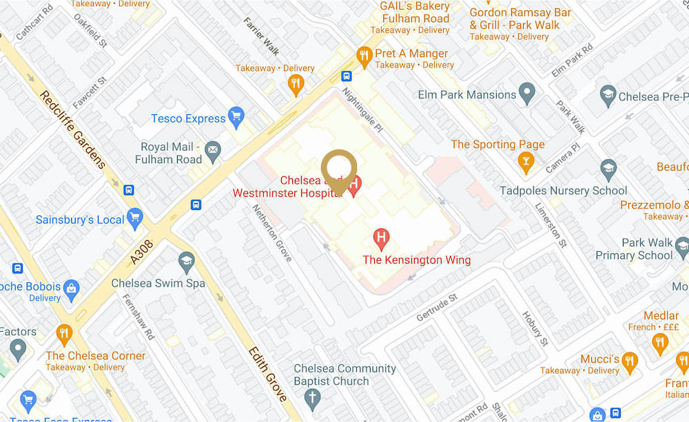 C.Me in Chelsea & Westminster Hospital Location